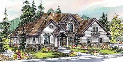 European Style House Plans Plan: 17-576