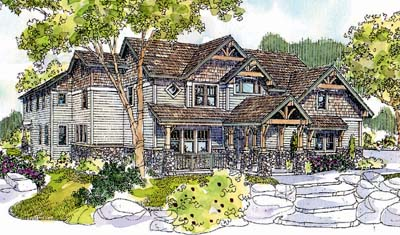Mountain-or-rustic Style House Plans Plan: 17-577