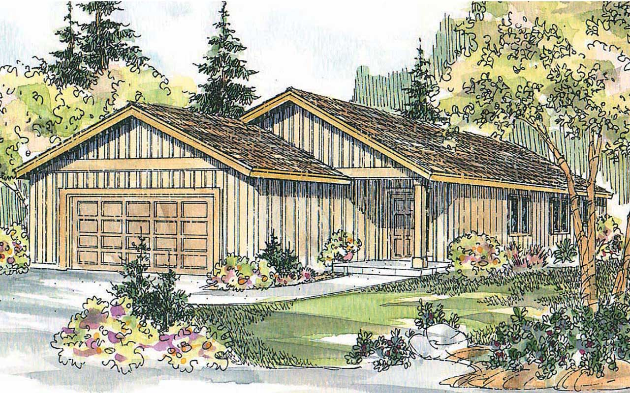 Ranch Style Home Design Plan: 17-578