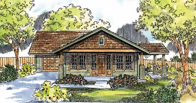 Craftsman Style Home Design Plan: 17-579