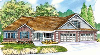 Ranch Style Home Design Plan: 17-585