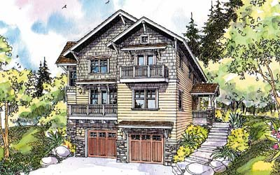 Craftsman Style House Plans Plan: 17-587