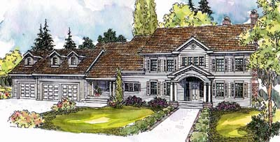 Southern Style Home Design Plan: 17-588