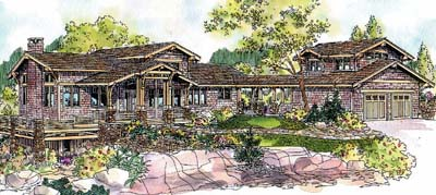 Mountain-or-rustic Style Floor Plans Plan: 17-593