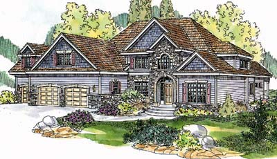 Traditional Style Floor Plans 17-595