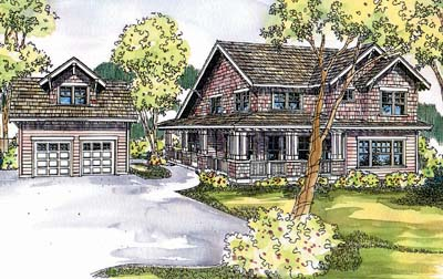 Craftsman Style Home Design Plan: 17-596