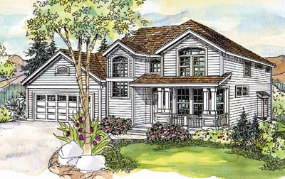 Country Style Floor Plans Plan: 17-597