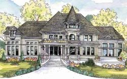Victorian Style Home Design Plan: 17-600