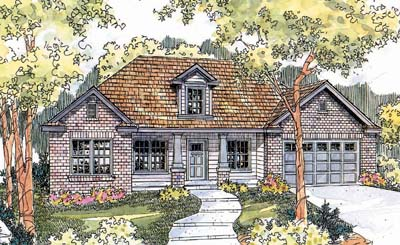 Craftsman Style Home Design 17-603