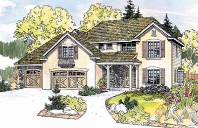 English-country Style House Plans Plan: 17-604