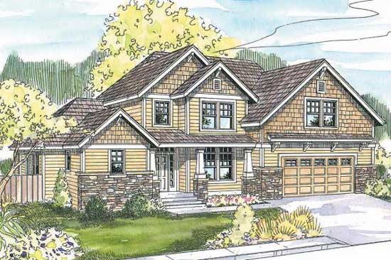 Craftsman Style House Plans Plan: 17-609