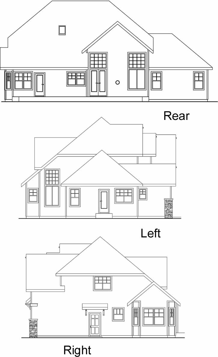 Rear Elevation Plan: 17-609