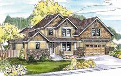 Craftsman Style Home Design Plan: 17-609