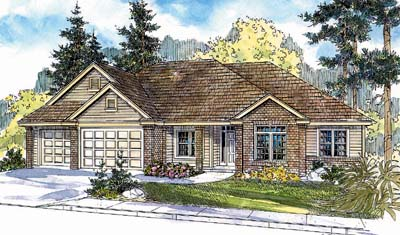 Traditional Style Home Design Plan: 17-612