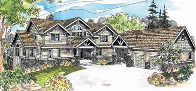 Craftsman Style Home Design 17-616