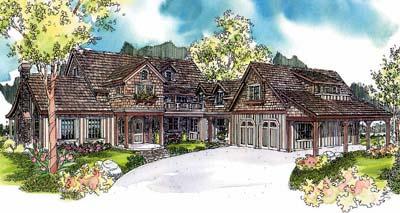 European Style House Plans Plan: 17-617