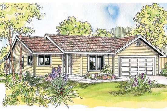 Ranch Style House Plans Plan: 17-622