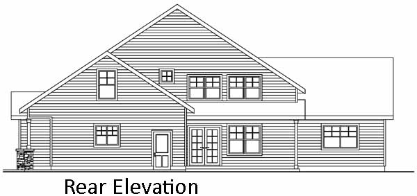 Rear Elevation Plan: 17-626