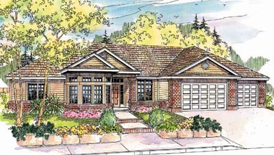 Contemporary Style Home Design Plan: 17-627