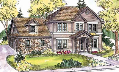 Southern Style Home Design Plan: 17-628