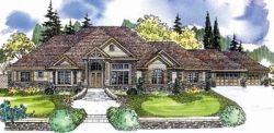 European Style Home Design Plan: 17-630