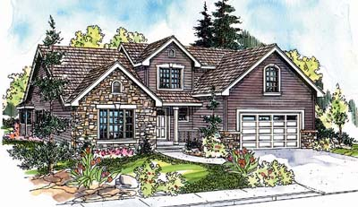 Traditional Style Home Design Plan: 17-632