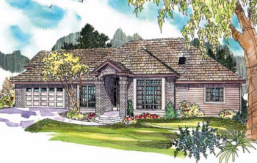 Traditional Style Home Design Plan: 17-635