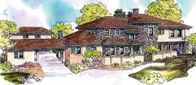 European Style House Plans Plan: 17-637