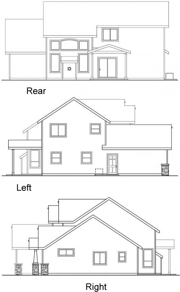 Rear Elevation Plan: 17-638