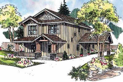 Craftsman Style Home Design 17-639