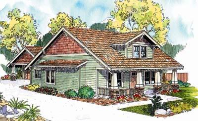 Craftsman Style Home Design Plan: 17-645