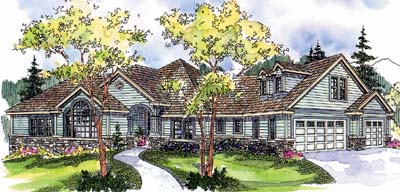 Country Style House Plans Plan: 17-646
