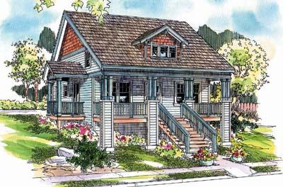 Craftsman Style Home Design Plan: 17-649
