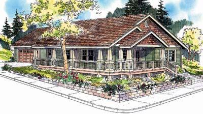 Craftsman Style Home Design Plan: 17-650