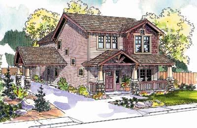 Craftsman Style Home Design Plan: 17-651