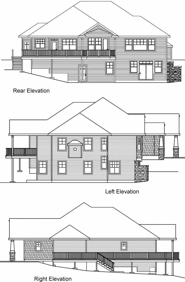Rear Elevation Plan: 17-653