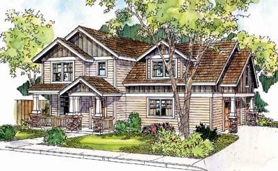 Craftsman Style Home Design Plan: 17-656
