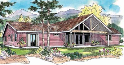 Mountain-or-rustic Style House Plans Plan: 17-657