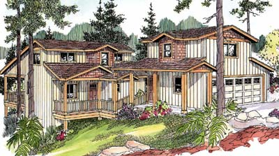 Country Style House Plans Plan: 17-659