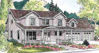 Country Style Home Design Plan: 17-660