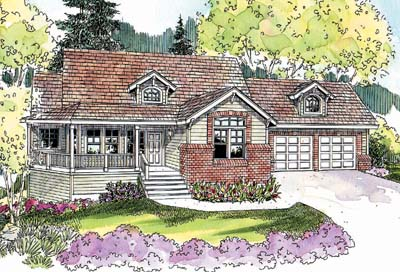 Country Style House Plans 17-661