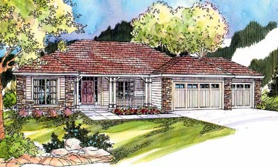 Ranch Style Home Design Plan: 17-662