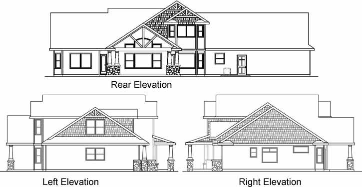 Rear Elevation Plan: 17-665