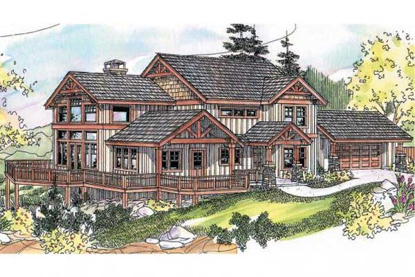 Mountain-or-rustic Style Home Design Plan: 17-667