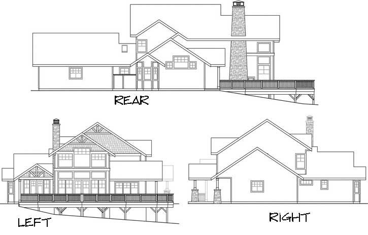 Rear Elevation Plan: 17-667