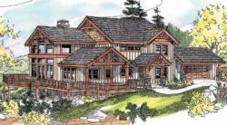 Mountain-or-Rustic Style House Plans 17-667