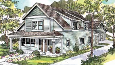 Craftsman Style Home Design Plan: 17-669