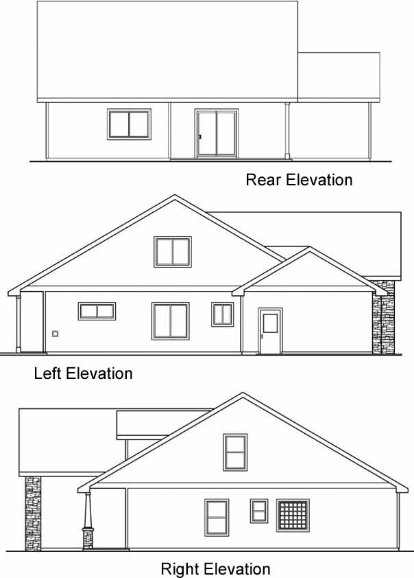 Rear Elevation Plan: 17-670