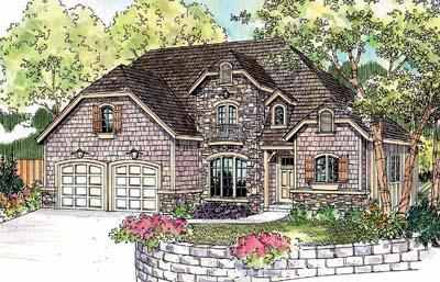 European Style House Plans Plan: 17-675