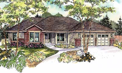Ranch Style Home Design Plan: 17-676